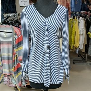 Chico's Striped Top Size 0